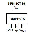 Линейный интегрированный регулятор напряжения тока IC Mcp1701at-3302I/MB - цепь