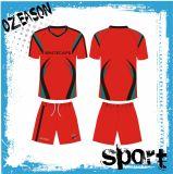 China passte Sublimation-Fußball-Team-Jersey-Uniform-Installationssatz an