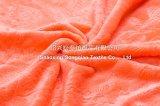 Gestickte korallenrote Vlies-Zudecken/doppeltes korallenrotes Vlies 2