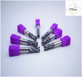 Cutoutil  4本の歯35° 螺旋形の切口の鋼鉄D10 25*75*10 固体炭化物の端製造所のツール