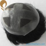 """7 """"X9"""" V Loop Four Lace with Thin Skin Hair Toupee"""