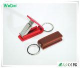 Neuer eleganter Leder USB-Speicher-Stock mit kundenspezifischem Firmenzeichen (WY-L23)