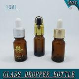 Überwurfmutter-Bernstein-wesentliches Öl-Glasflasche des kleinen Zylinder-10ml leere
