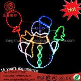 Luz da corda do motivo do boneco de neve do diodo emissor de luz 2D com luzes de Natal do frame de Matal para o uso interno e ao ar livre