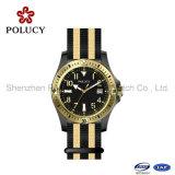 OEM het Nylon Horloge van het Kwarts van de Sport van de Mensen van de Gesp van het Roestvrij staal van het Horloge van de Band
