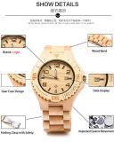 صنع وفقا لطلب الزّبون علامة تجاريّة [ستينلسّ ستيل] مشبك خف ساعة خشبيّ