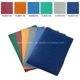 De blauwe Antislip BinnenBevloering van pvc voor Patroon 4.5mm van Lichi van de Gymnastiek van de Tennisbaan