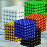216pcs 5mm niquelado neodimio NdFeB bolas magnéticas / Esferas en la caja del hierro