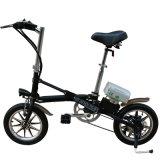 Bicicletta piegante della batteria di litio da 14 pollici/bici elettrica della città/bicicletta piegante del acciaio al carbonio lega di alluminio