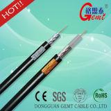 Câble coaxial de liaison de RG6 Rg59+2c pour le système de CATV