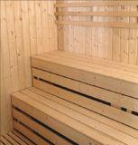 sauna da madeira contínua de 2400mm para 6 pessoas com o tamborete da camada dobro (AT-8640)