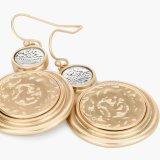 De nieuwste Oorringen van de Daling van de Legering van de Juwelen van de Manier van 2017 Gouden & Zilveren Geplateerde voor Vrouw