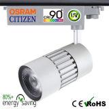 Ponto 5-Year Tracklight do diodo emissor de luz de Dimmable da ESPIGA da garantia 15W 20W 30W 40W 50W da promoção do feriado do ano novo com excitador de Osram