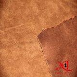 布のための100%年のポリエステルマイクロスエードファブリックか靴またはソファー