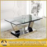 豪華な長方形の銀の金属のアクアリウム機能コーヒーテーブル