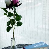 Tissu fin solide de toile de rideau en coton en gros de qualité