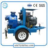 Bomba de agua diesel del equipo agrícola de la irrigación con el acoplado