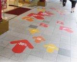 Kundenspezifischer Aufkleber-Drucken-Fußboden-Abziehbild-Aufkleber-Drucken-Willkommens-FußbodenSignage