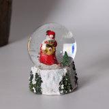 Résine Meilleur Globe de Neige au Père Noël avec une taille différente