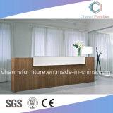Moderner Entwurfs-Kostenzähler-elegante Farben-Auswahl-Melamin-Empfang-Schreibtisch-Büro-Möbel