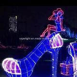 Lumière de Noël extérieure de lumière de rideau en décoration de vacances de DEL