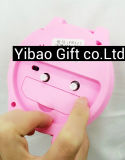 Sveglia sveglia del PVC di alta qualità su ordinazione di marchio (YB-HD-75)