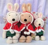Juguete del conejo de la felpa de la Navidad