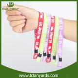 Coutume pour le bracelet de logo tissé par événements pour la musique