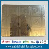 Hoja de acero inoxidable grabada espejo del oro de la alta calidad 310S