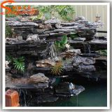 Fuente de agua artificial del jardín de rocalla de la nueva del diseño del jardín resina de la piedra