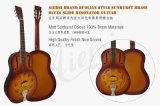 Гитара резонатора тела металла скольжения син фабрики гитары Aiersi латунная