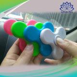 2017 Juguete plástico vendedor caliente del juguete LED del dedo ligero de la mano que hace girar el altavoz de Bluetooth