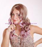 Peruca sintética Curly longa do cabelo com Muti-Cor