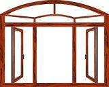 Aluminiummetallrahmen ausgeglichener Sicherheitsglas-Schwingen-geöffnetes Fenster-Entwurf