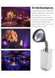 Luz con pilas de la radio LED Pinspot del nuevo del punto negro zoom de Epin Warmwhite 10W para la decoración de la boda de la etapa con magnético