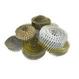 Pregos pneumáticos galvanizados da bobina da pálete da pata do parafuso