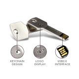 Edelstahl-Schlüsselform USB-grelles Feder-Laufwerk-Geschenk