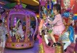 6つのシートとの多彩な携帯用子供の王冠のコンベヤーの馬の乗車