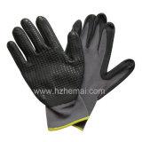 Nylon перчатки безопасности работы пены нитрила вкладыша покрынные ладонью