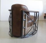 스테인리스 관 팔걸이 거실 의자, Industral 작풍 의자 Yh-313