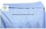 Alineada rayada azul elegante de la camisa de 2017 de la manera una mujeres del hombro