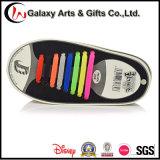 Sin Lazo colorido Lazy elástica plana zapatillas de deporte de los cordones de silicona