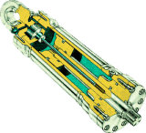 Двойной действующий телескопичный гидровлический цилиндр для ультра тонкой вилки подъема
