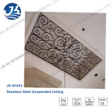 Décoration de plafond artistique en acier inoxydable
