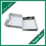 ハンドルが付いている卸し売り無光沢のラミネーションの終了するボール紙の運送ボックス
