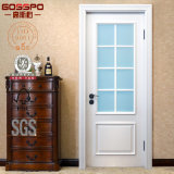 Houten Deur van het Glas van de badkamers de Binnenlandse met het Witte Schilderen (GSP3-015)