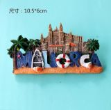 El material de la resina hace 3D los imanes turísticos del refrigerador del recuerdo del país de España