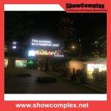 Visualización de LED al aire libre a todo color de la esquina P10 para hacer publicidad