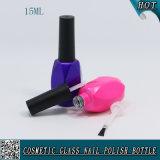 Nagellack-Glasflasche der rosafarbenen Farben-15ml leere mit Überwurfmutter