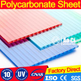 Feuilles de polycarbonate transparentes creuses à deux couches PC-Sheets